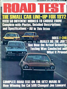 Road Test Magazine December 1971 Small Car Line-up For 1972 Vgex 122315jhe