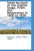 Some Account Of The English Stage From The Restoration In 1 By Genest John 176
