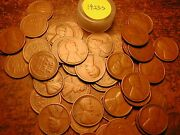 1923-s Lincoln Wheat Cent Penny Roll, 50 Nice Coins