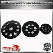 Crank Pulley For Ns Rb20 / Rb25dets/ Rb26 Engine Aluminum Performance Black