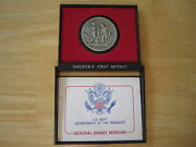 General Daniel Morgan Americas First Medals With Original Holder, Pewter 1-1/2