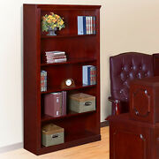 Traditional Office Modular Library Bookcases 72 Mahogany Wood Wooden Furniture