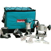 Makita 1-1/4 Hp Compact Router Kit W/ Attachments Rt0701cx3 New