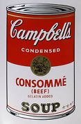 Andy Warhol Campbell Soup Can Consomme Sunday B Morning Silkscreen Print
