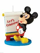 Mickey Mouse Clubhouse 3 Let's Celebrate Candle Mickey Mouse Birthday Candle