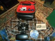 Vintage Argus Autronic 2 Automatic 35mm Camera W/ Leather Bag And Accessories