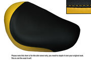 Yellow And Black Custom Fits Honda F6c Valkyrie 96-05 Front Leather Seat Cover