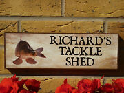 Made To Order Fishing Sign Own Name Garden Sign Shed Sign Fishing Gift Angling