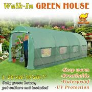 20'x10'x7' Hot Green House Larger Walk-in Outdoor Plant Gardening Greenhouse