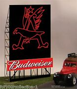 Budweiser Eagle Animated Neon Sign O/ho 88-2301 Miller Engineering