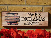 Personalised Model Train Sign Gifts For Modellers Dioromas Train Layouts Oo Ho N