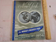 1954 Marine And Aviation 144-page Annual Book New York City Ships Commerce Photo
