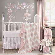 Lambs And Ivy Charlotte By Dena 6 Piece Baby Crib Bedding Set With Bumper And Mobile