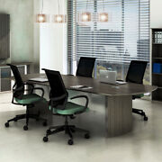 8ft - 14ft Modern Conference Table Meeting Room Boardroom Office Furniture New