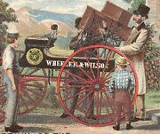 Wheeler And Wilson Sewing Machine Trade Card, Delivery Wagon And Now On Sale  Tc992