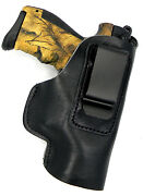 Right Hand Black Leather Iwb Aiwb Inside Pants Holster For Compacts - Choose Gun
