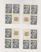Croatia,ww Ii,expo 1941,golden Ovpt,sets With Labels,lot ,mnh Black On Back