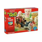 Fisher Price Trio T5266 Stage Coach Building Set New