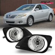 For 2010-2011 Toyota Camry Pair Oe Factory Fit Fog Light Bumper Kit Clear Lens