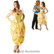 Cl934 Princess Belle Storybook Fairytale Fancy Dress Costume Beauty And The Beast