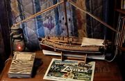 Vintage Authentic Antique African Dhow Handmade Sailing Ship Model From Kenya