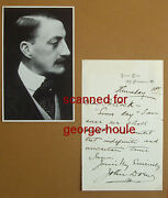 John Drew - Letter - Autograph - Stage Actor - Hamlet - Charles Frohman