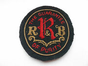 Early Bullion And Silk Rrandb  Milk  Delivery  Vintage  Cloth Cap Patch