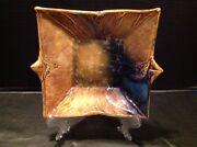 """Bill Campbell Studio Pottery Functional Flambeaux Crystalline 8"""" Trail Plate"""