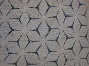 Antique Hand Crochet Large 92 X 104 Bedspread With Pinwheel Hobnail Pattern