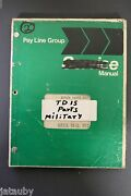 Vintage Pay Line Group Military Repair Parts List Tractor Full Tracked Navy