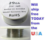 Kanthal 29 Awg 0.28702mm A-1 Wire 100ft Roll 30 Meters 6.55 Ohms/ft Resistance