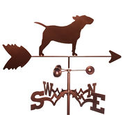 Bull Terrier Weathervane With Garden Mounting