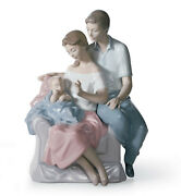 Lladro A Circle Of Love Brand New In Box 6986 Family Baby Newborn Save F/sh