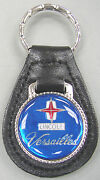 Vintage Blue Lincoln Versailles 3115 Black Leather Silver Key Ring 1977 1978
