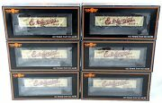 Ho Scale 6-car R-40-2 Reefer Set - Edelweiss Beer - Mth 80-90023