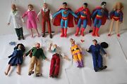 Mego Retro Superman Series 1,2, And 3 12 , 8 Inch Action Figures Polybag