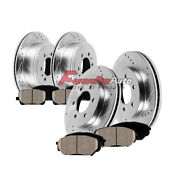 Front Rear Drill And Slot Brake Rotors And Pads For 4runner Fj Cruiser 2wd 4wd