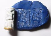 Zurqieh - Af658- Ancient Canaanite Faience Cylinder Seal. Gold. 1700 - 1550 B.c