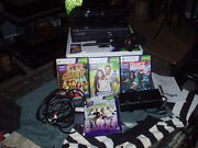 Xbox 360 Kinect Console W/ 1 Wireless Controller + 4 Games Clean Works Great