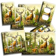 Whitetail Deer Buck Light Switch Wall Plate Outlet Hunting Cabin Home Room Decor