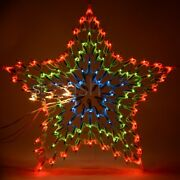 Large Christmas 54cm Led Star Silhouette Animated Outdoor Xmas Decoration Lights