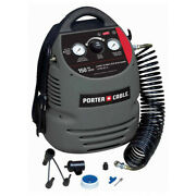 Porter-cable Cmb15 0.8 Hp 1.5 Gallon Oil-free Hand Carry Air Compressor Kit New