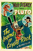 Pluto In The Legend Of Coyote Rock 1945 Rare One Sheet Disney Poster