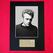James Dean Signed Reproduction Autograph Mounted Photo Print A4 615