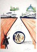 Dali Original Lithograph Hand Signed Numbered Imaginations Locomotion 1975