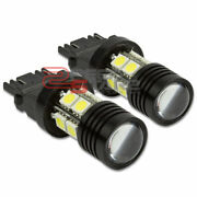 Pair 3157 White Led Q5 7w 10smd+projector Cree Turn/signal/brake/tail Lamp/bulbs