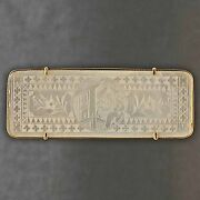 Antique, C1815, 14k Yellow Gold And Mother Of Pearl Chinese Gambling Counter Token