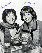 1976-1983 Penny Marshall Cindy Williams Laverne And Shirley Signed Bandw Photo Jsa