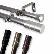 Double Curtain Rod 3/4andrdquo Od 32 Choose From 4 Color 28-170