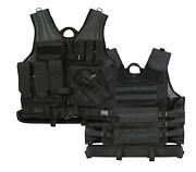 Tactical Molle Cross Draw Military Tactical Vest - Heavyweight Poly Mesh